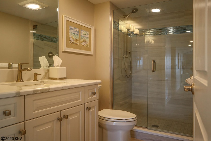 Beautiful Guest Bath is right next door to the Guest Bedroom.
