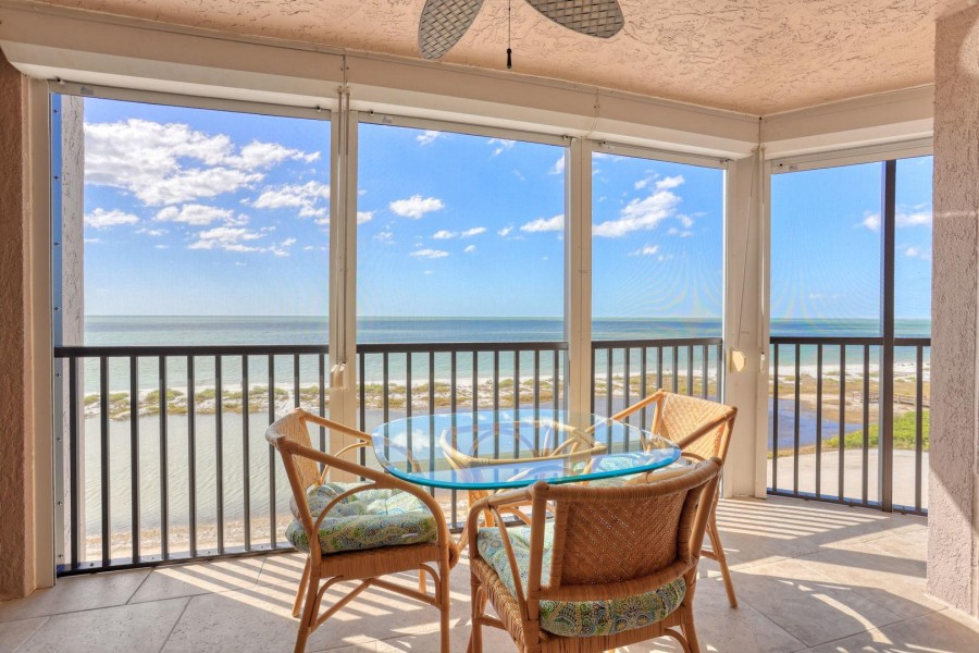 WOW What A View - Panoramic view of the Gulf from the screened in lanai
