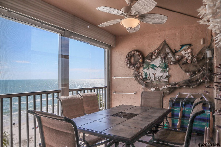 Fabulous Gulf view from your screened in lanai
