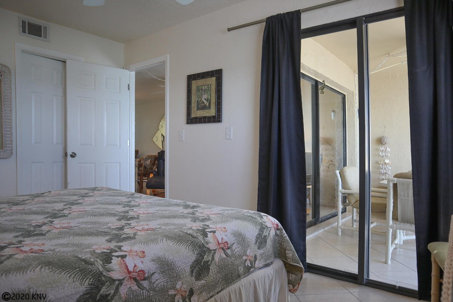 Master Bedroom has a private lanai access.