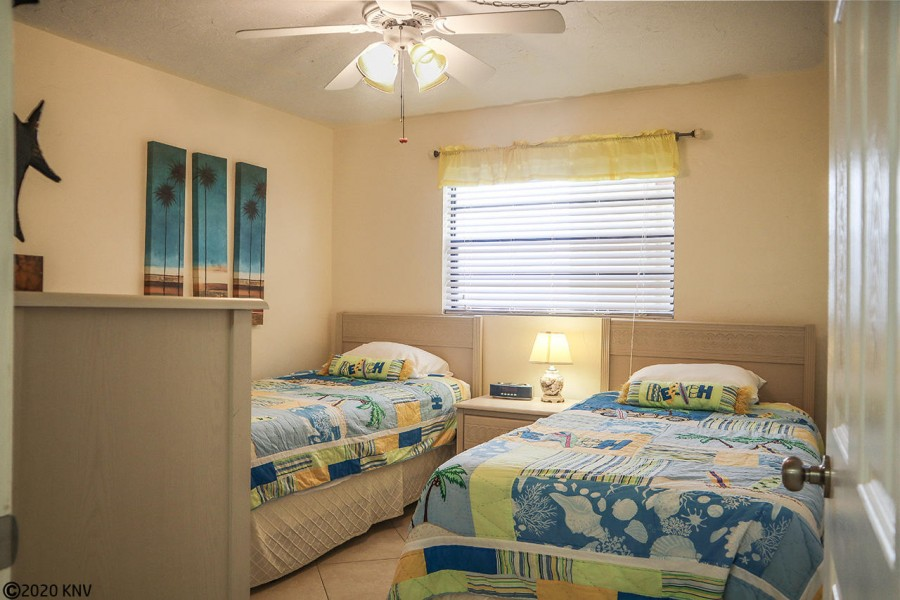 Guest Bedroom has two twin beds