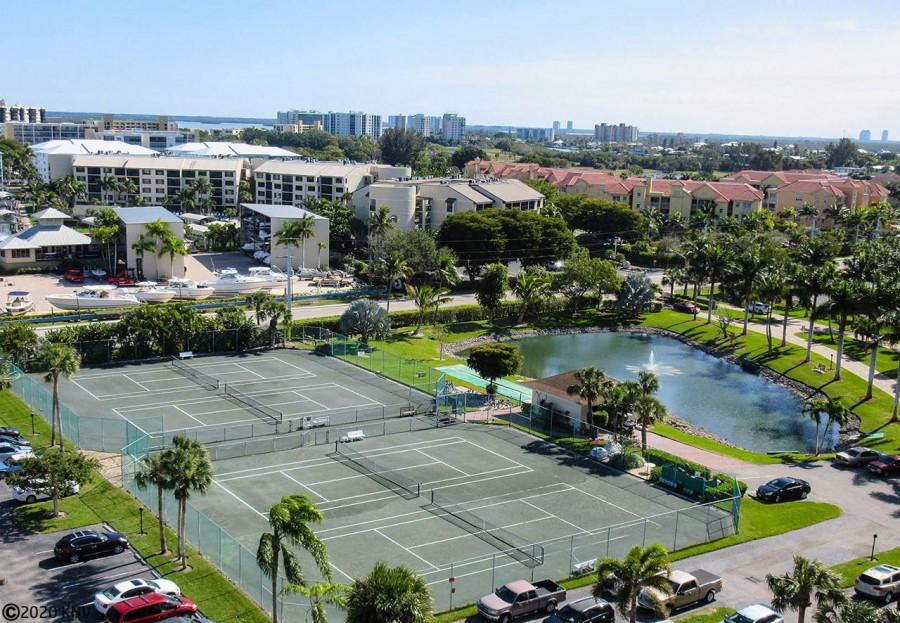 Tennis courts at Estero Beach and Tennis Club