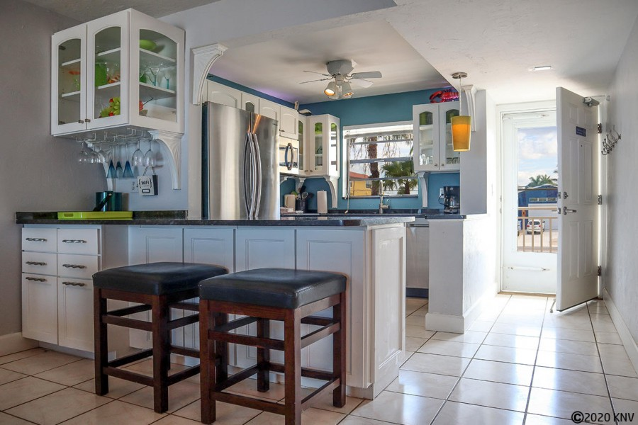 Lovely fully equipped kitchen allows you to save money and eat in.