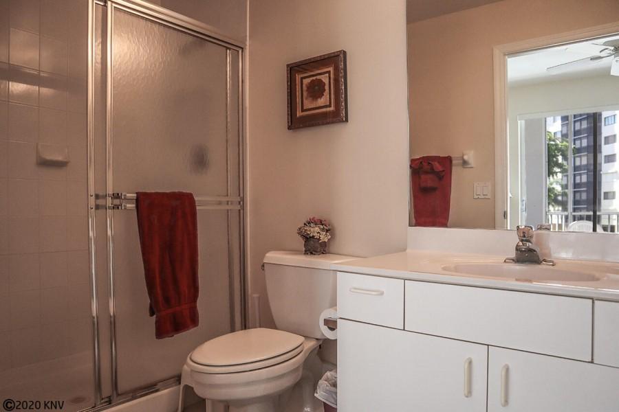 Full En Suite Master Bath has a walk in shower