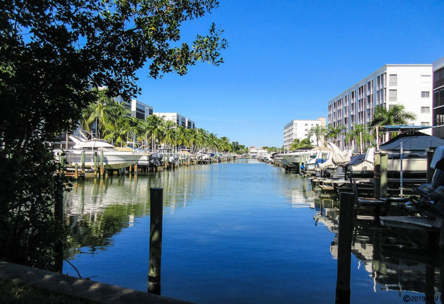 Casa Marina is surrounded by beautiful wide canals.