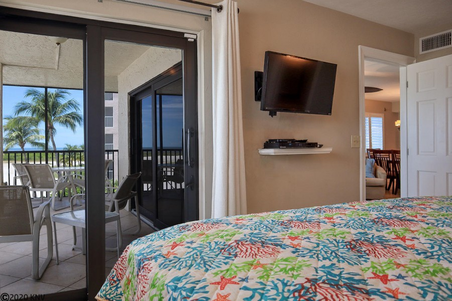 Master Bedroom features a private lanai access with stunning views.