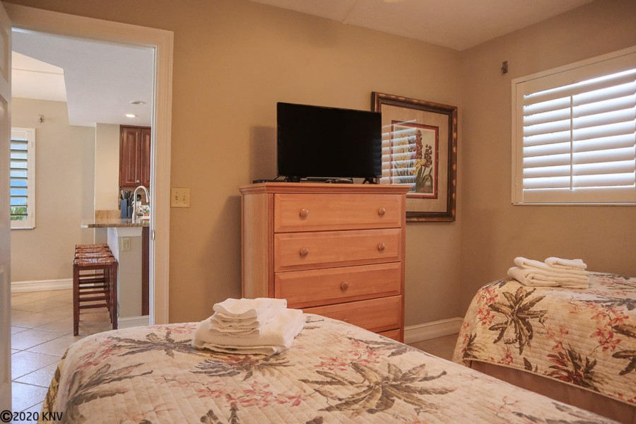 Guest Bedroom features its own TV. A big hit with every guest.