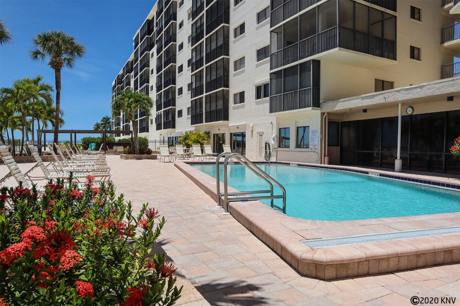 Carlos Pointe Beach Club Vacation Condo sits right on the Gulf with wonderful amenities