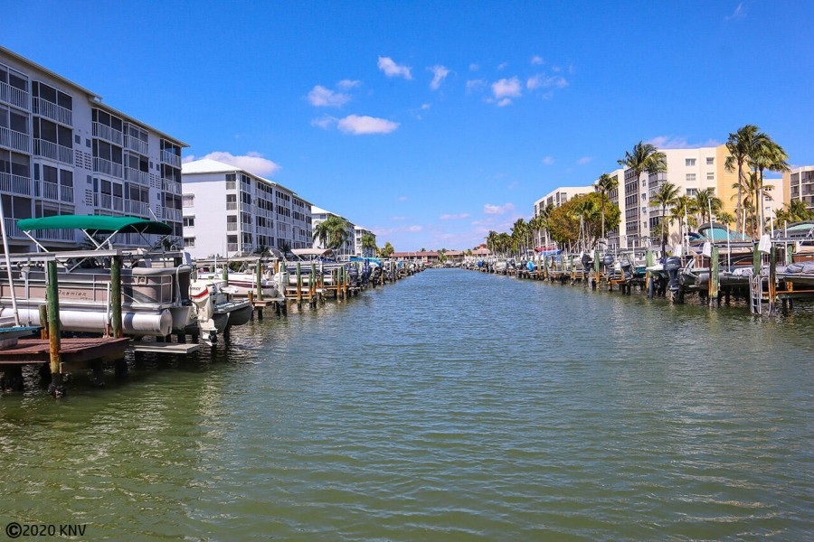 Wide canals surround the Royal Pelican grounds
