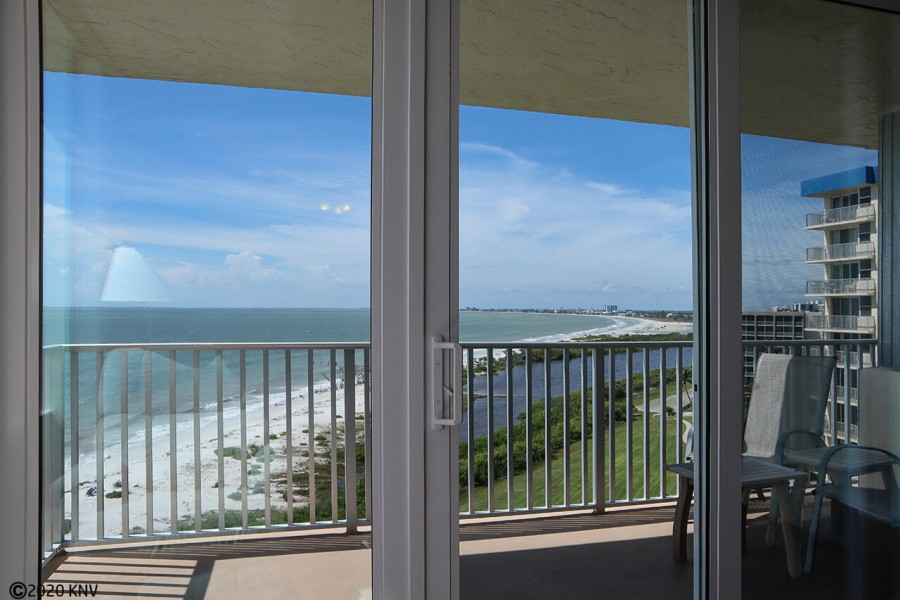 Relax out on your balcony with spectacular Gulf view
