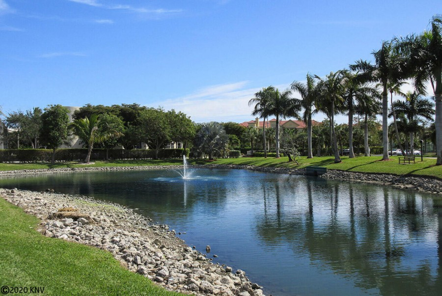 Beautiful, lush, tropical landscaping surrounds the complex