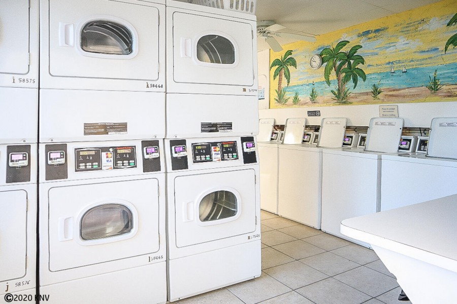 Laundry Facilities at Smugglers Cove...washers and dryers take credit cards.