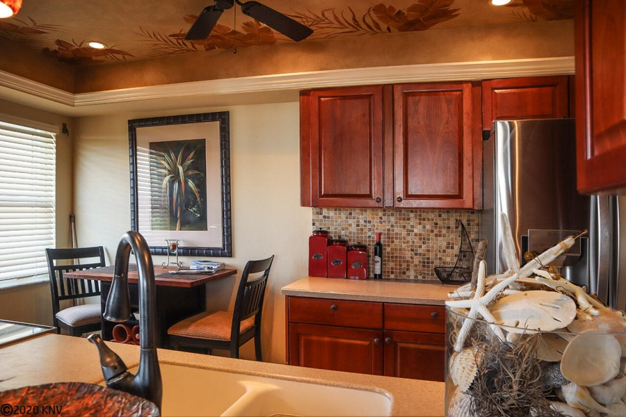 Gorgeous eat-in kitchen with upgrades galore make dining in easier than venturing out.