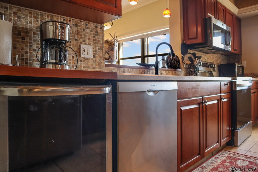 A brand new dishwasher and wine cooler are sure to enhance your vacation experience.