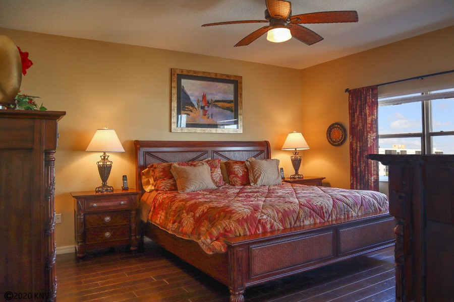 The very large Master Bedroom has a private Master Bath, ceiling fan, and walk in closet