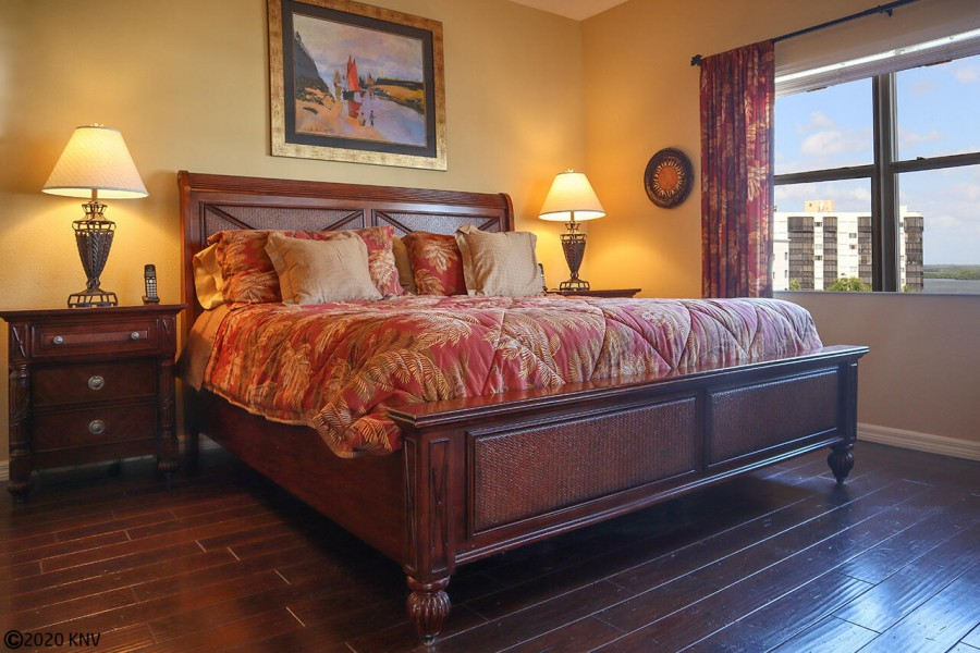 Comfy King Sized Bed awaits you in the Master Bedroom