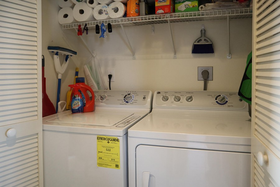 Full Washer and Dryer are in the condo for your convenience