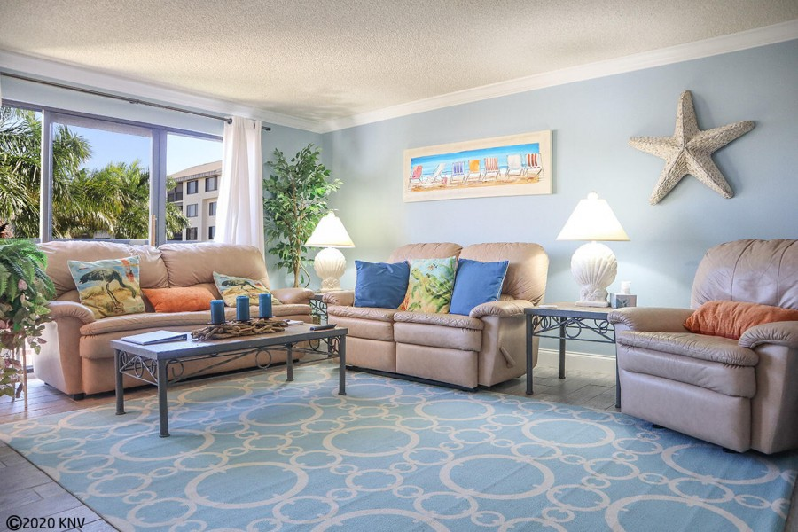 After a full day of fun in the sun, relaxation is all but guaranteed in your living room.