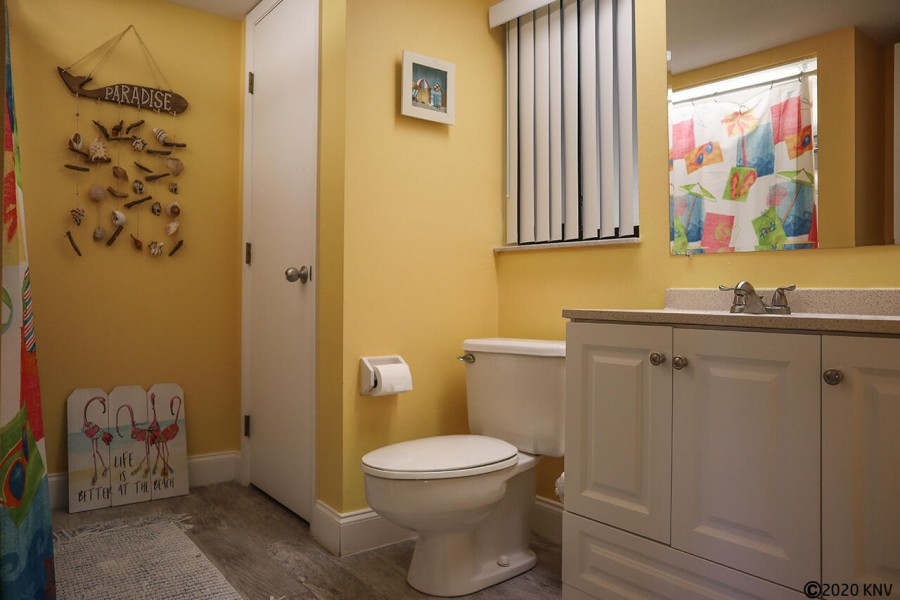 Half bath on the bottom floor is convenient for you, your family and your guests.