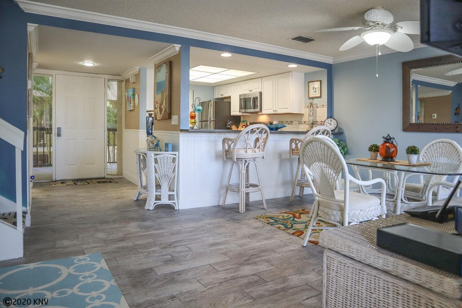 Spacious, open concept floor plan filled with sunlight