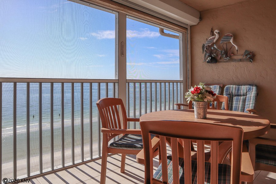 Dining or relaxing out on the lanai with panoramic views of the Gulf