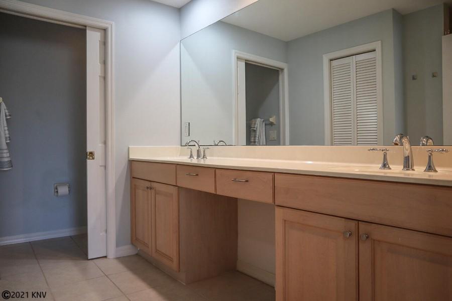 Master Bath has a double vanity