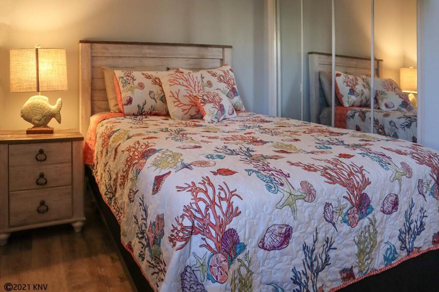Guest Bedroom has a Queen Sized Bed