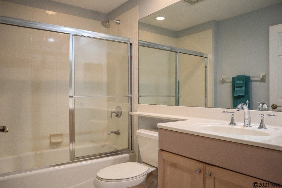 Beautiful Guest Bath is right next door to the Guest Bedroom