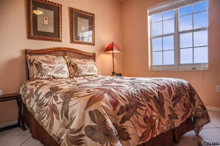 Queen Sized Bed in First Guest Bedroom