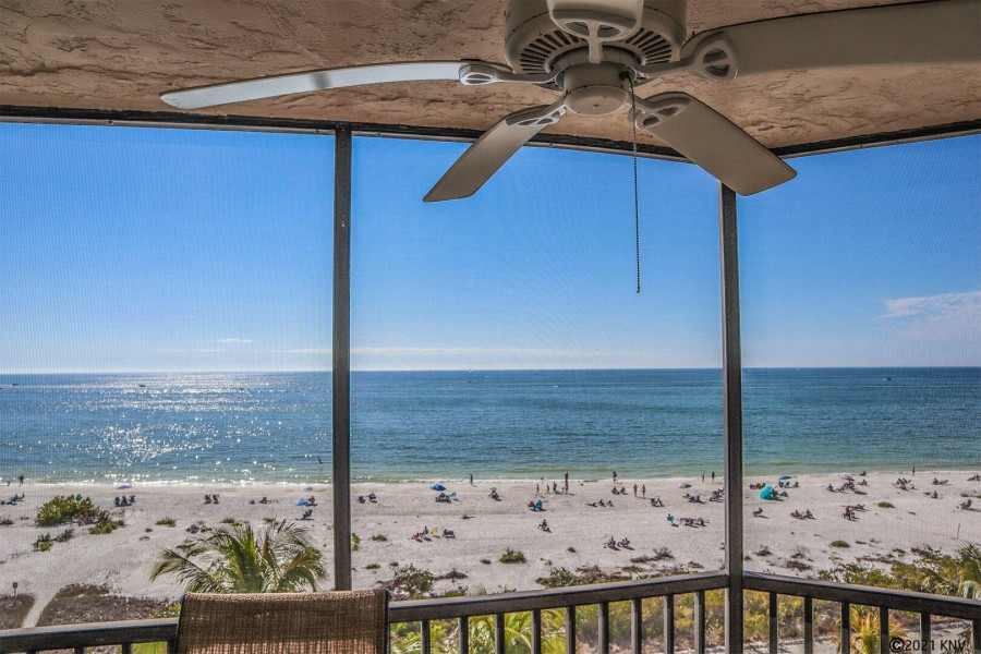 Panoramic View of the Gulf from your screened in Lanai