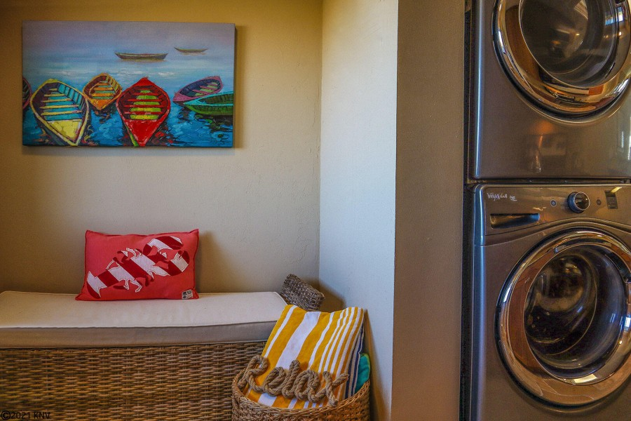 Full sized washer and dryer in the condo is a wonderful convenience