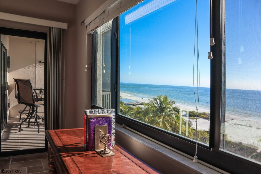 Master Bedroom has a beautiful view and private lanai access