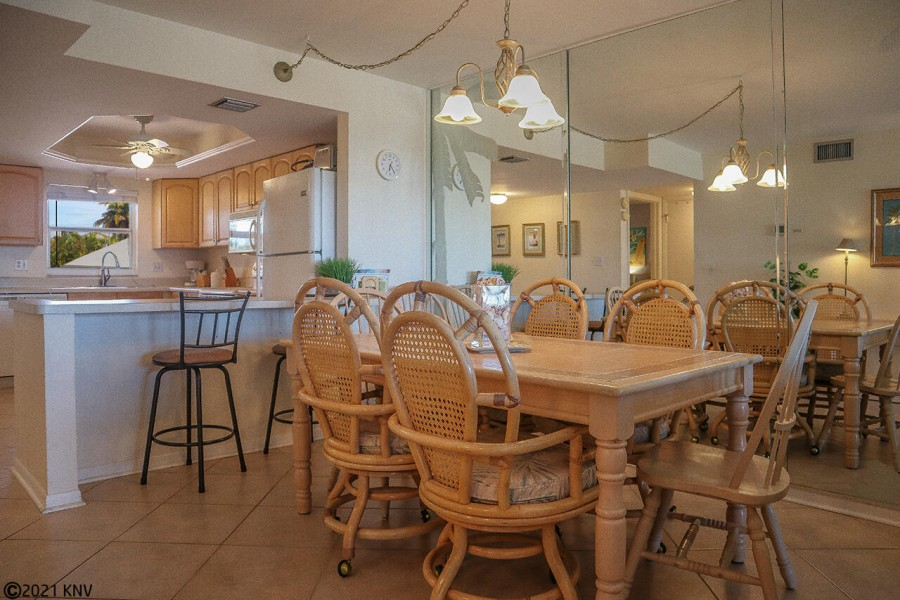 Dining Area has a place for everyone to enjoy meals together