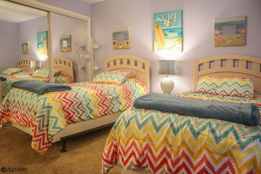 Guest Bedroom features two twin beds