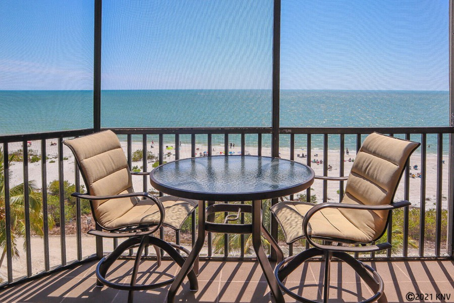 Breathtaking View of the Gulf from your screened in lanai at Riviera Club 603