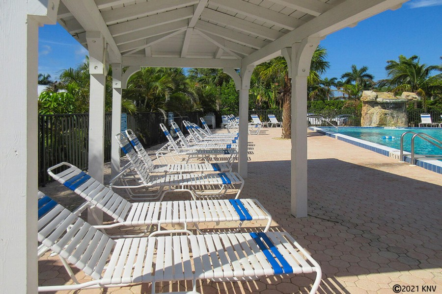 Riviera Club has plenty of lounge chairs on the sundeck for you to enjoy