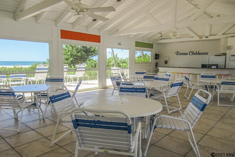 Social Room at Riviera Club offers a Gulf View