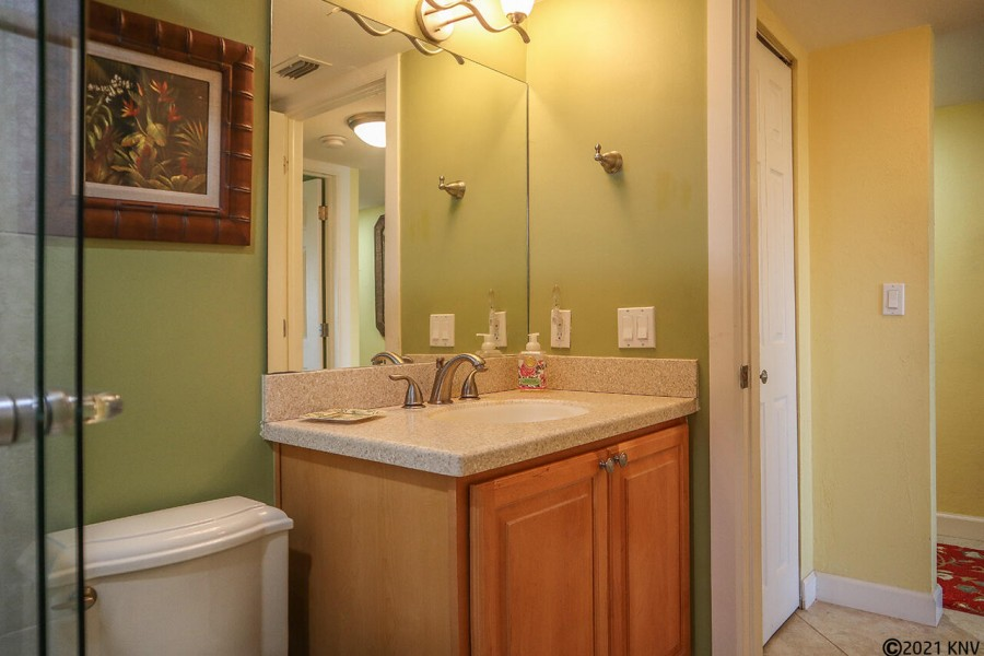 Guest Bath is located right next door to the Guest Bedroom