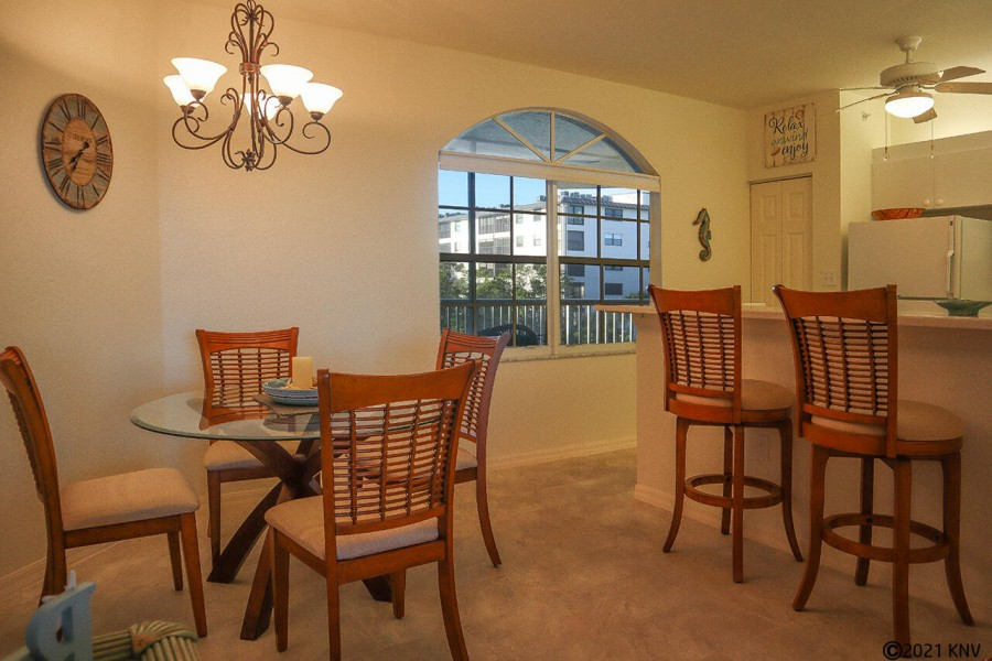 Open Floor Layout features a dining and living area with lovely views