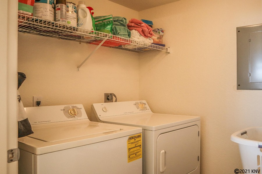 In Unit Laundry off the Kitchen for your convenience.