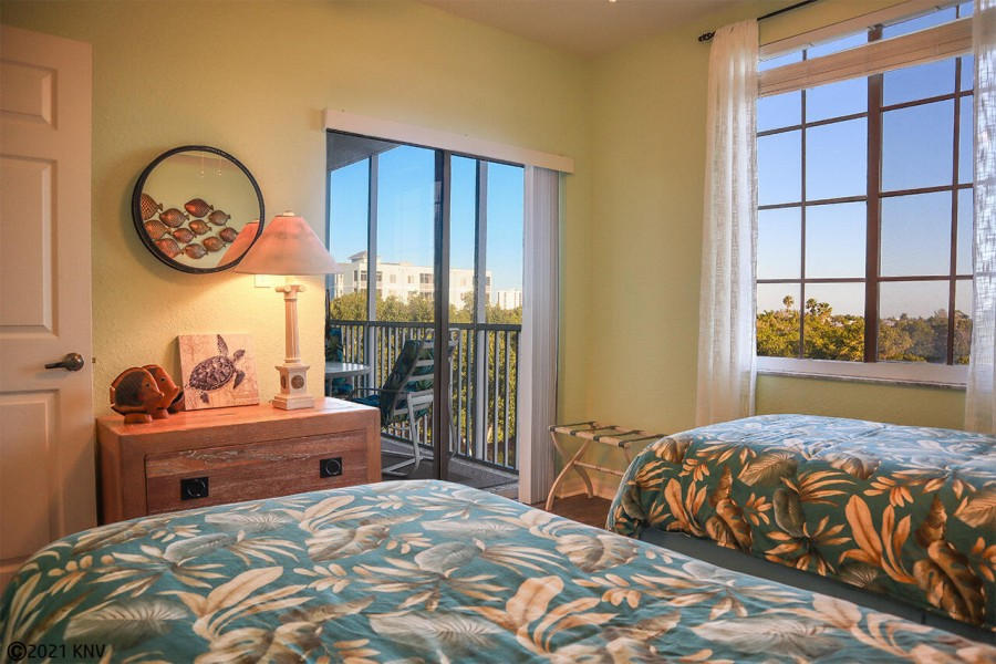 First Guest Bedroom has private lanai access