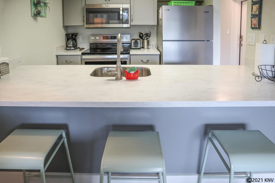 Fully Equipped Kitchen offers all appliances, cookware and dishware