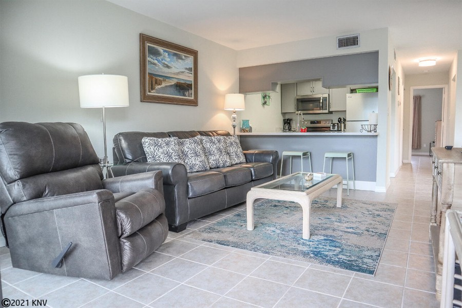 Comfortable recliner and sofa bed for extra guests