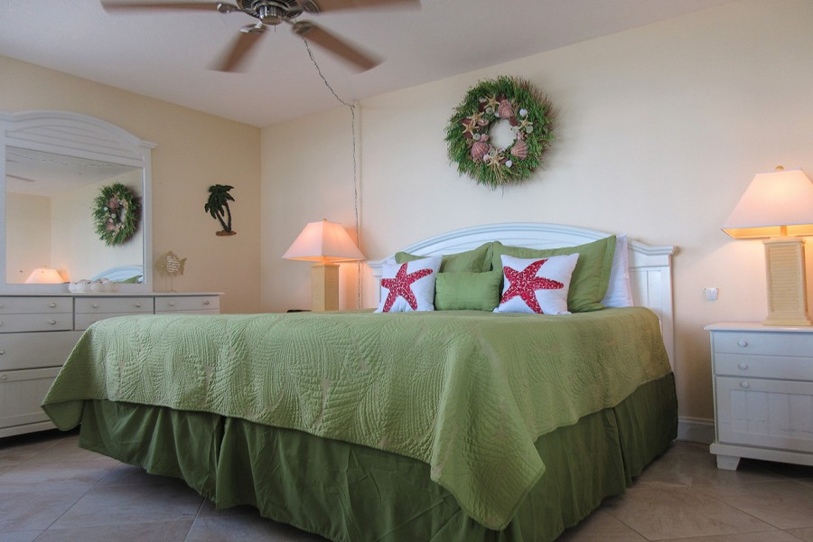 King Sized Bed at Estero Beach And Tennis Club 1106A