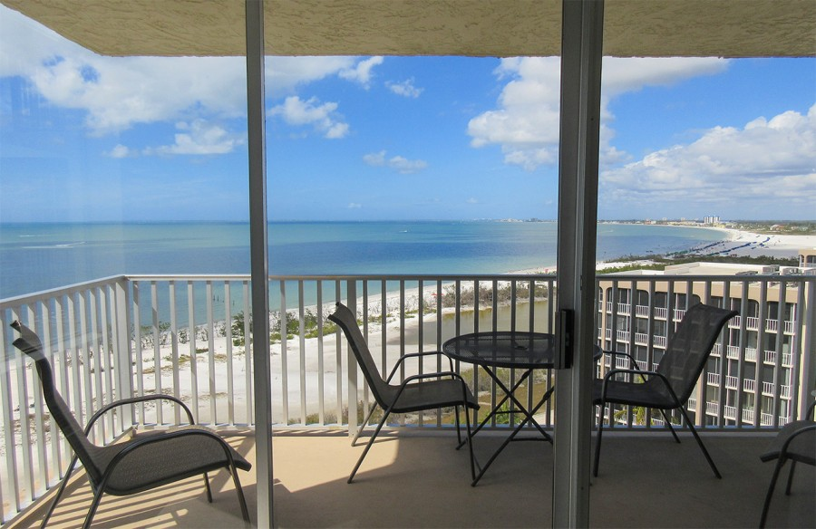 Private Balcony at Estero Beach And Tennis Club 1106A