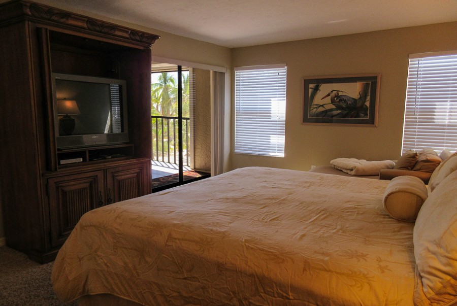 Master Bedroom has private lanai access at Eden House 205