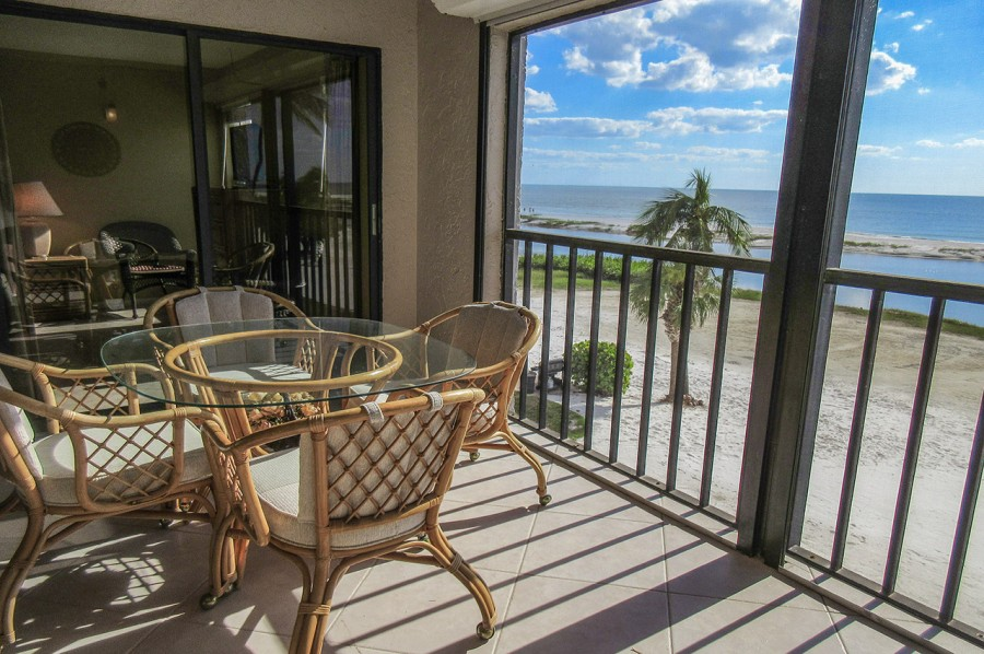Beautiful Screened In Lanai with Sweeping Gulf Views at Eden House 302