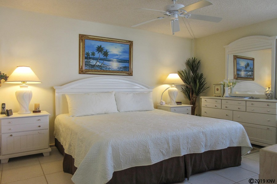 King Sized Bed at Estero Beach And Tennis Club 407A