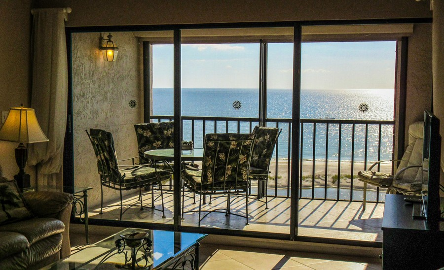 Screened In Lanai with wonderful panoramic views of the Gulf