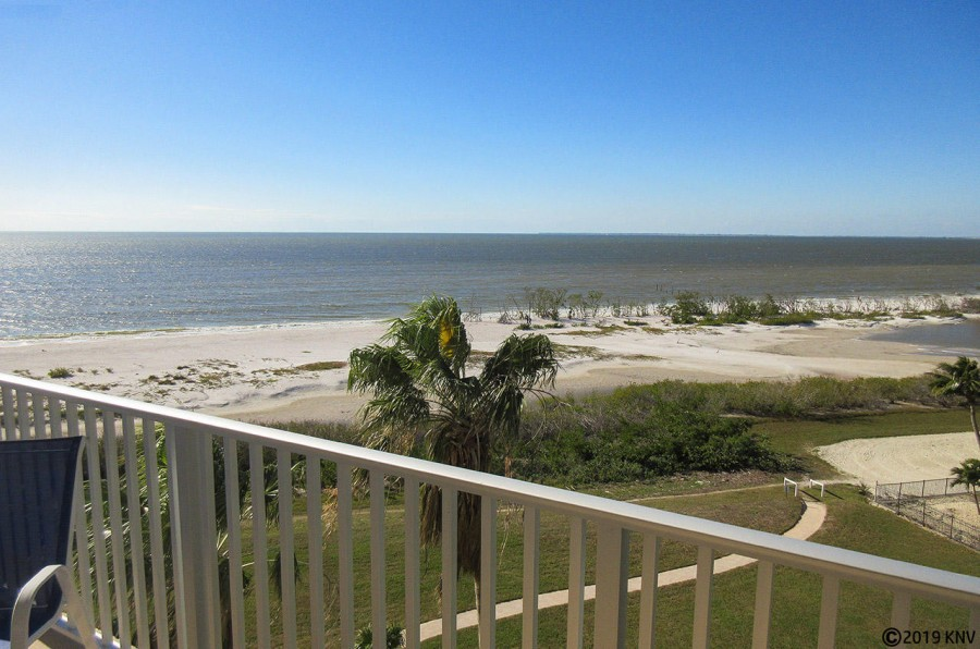 Balcony View from Estero Beach And Tennis Club 606A